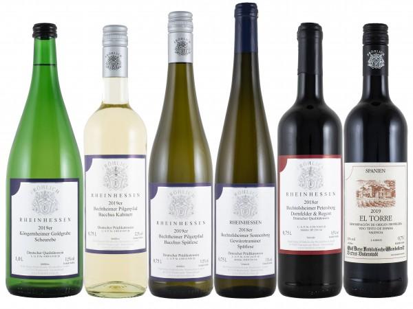Probierpaket - liebliche Weine bestehend aus 6 Flaschen