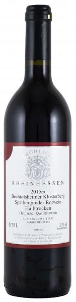 2014 Bechtolsheimer Klosterberg Spätburgunder QbA halbtrocken