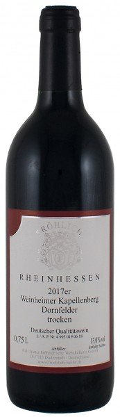 2017 Weinheimer Kapellenberg, Dornfelder Qualitätswein trocken