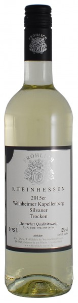 2015 Weinheimer Kapellenberg, Silvaner Qualitätswein