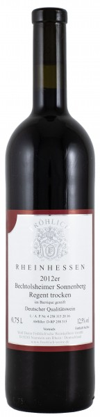 2012 Bechtolsheimer Sonnenberg, Regent Qualitätswein