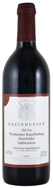 2017 Weinheimer Kapellenberg, Dornfelder Qualitätswein halbtrocken