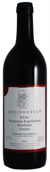 2015 Weinheimer Kapellenberg, Dornfelder Qualitätswein