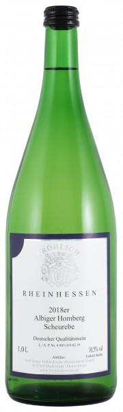 2018 Albiger Homberg Scheurebe Qualitätswein lieblich